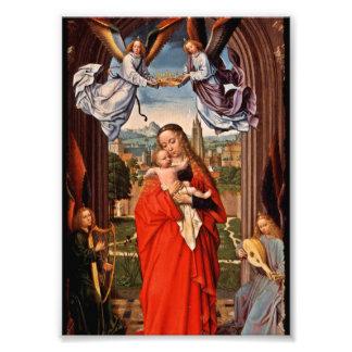 Niño y ángeles de Madonna Cristo Fotografía