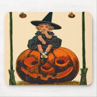 Niño y calabaza del cojín de ratón de Halloween de Tapetes De Ratones