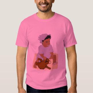 Niño y camiseta del tamaño extra grande del polera