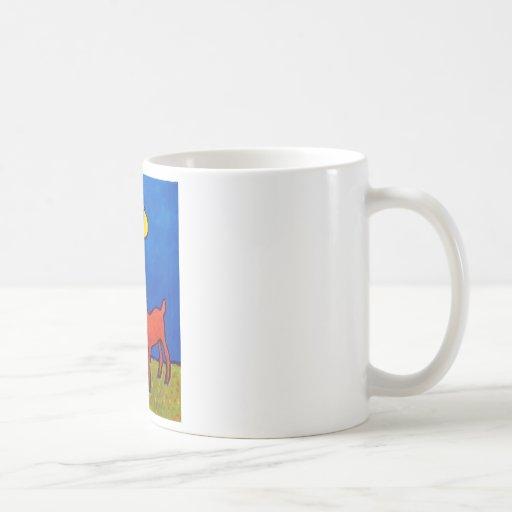 Niño y cordero por Piliero Taza De Café