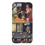 Niño y naranjas funda de iPhone 6 barely there