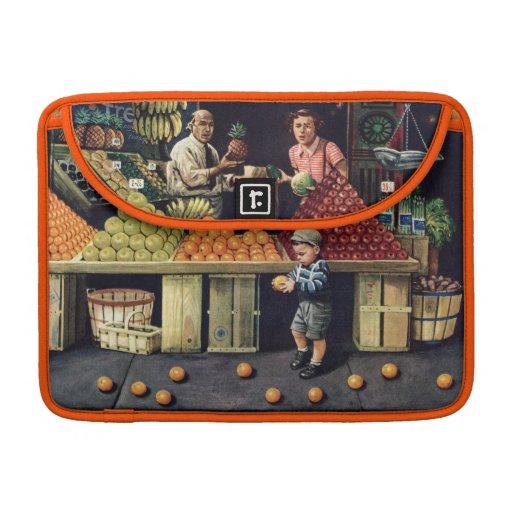 Niño y naranjas fundas para macbook pro