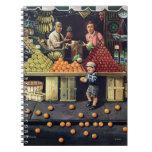 Niño y naranjas libro de apuntes con espiral