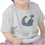 Niño y niño del dinosaurio camisetas