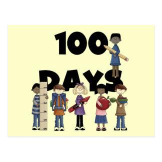 Niños 100 días de camisetas y de regalos de la esc postales