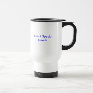 Niños 4 necesidades especiales taza de viaje de acero inoxidable