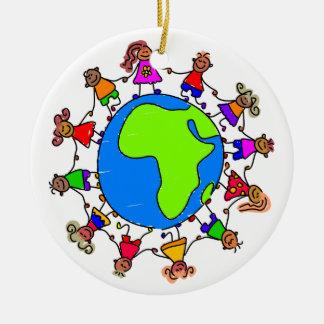 Niños africanos ornamentos de navidad