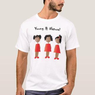 Niños afroamericanos y pelo natural playera