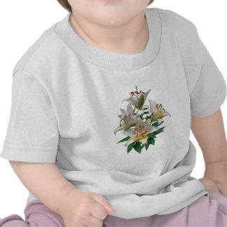 Niños agraciados de los lirios blancos camiseta