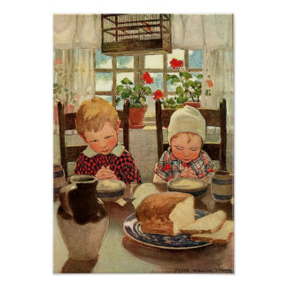 Niños agradecidos del vintage; Jessie Willcox Impresiones