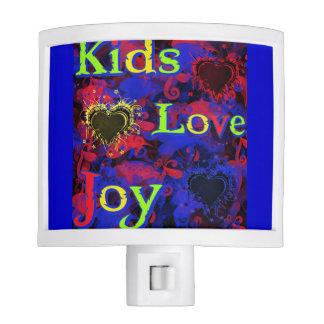 Niños, amor, alegría luces de noche