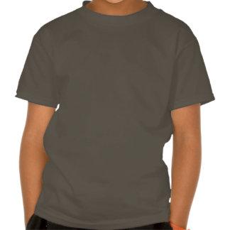 Niños apuestos de la prensa del perro camisetas