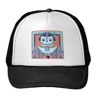 Niños azules retros del robot gorra