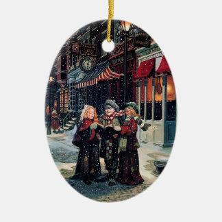 Niños cantantes del villancico adornos de navidad