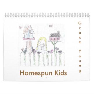 Niños caseros calendarios de pared