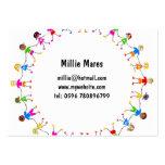 Niños coloridos plantilla de tarjeta de negocio