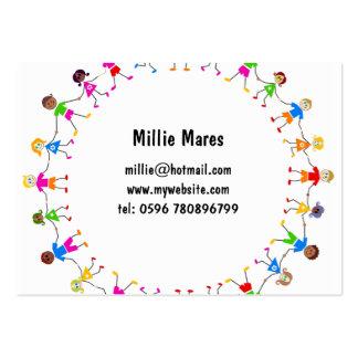 Niños coloridos tarjetas de visita grandes