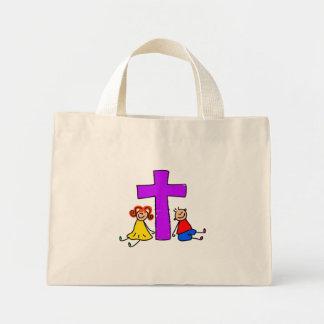 Niños cristianos bolsa tela pequeña