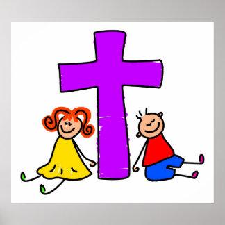 Niños cristianos póster