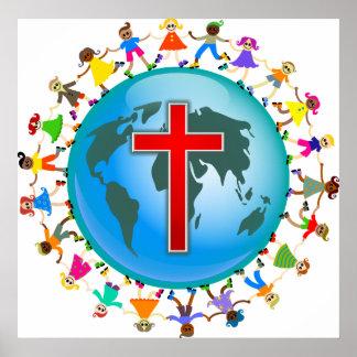 Niños cristianos poster
