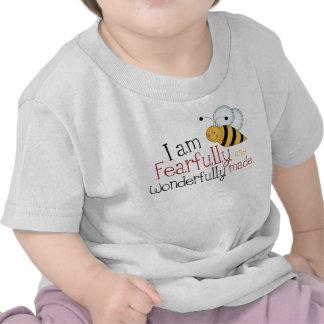 Niños cristianos temeroso y maravillosamente hecho camiseta