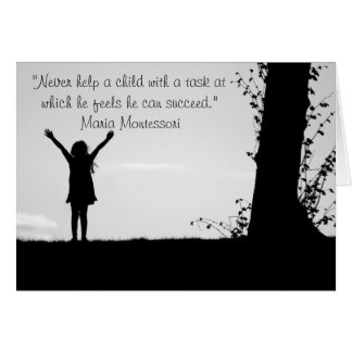 Niños de ayuda de la cita de Montessori Tarjeta Pequeña
