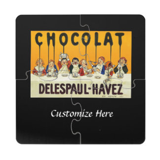 Niños de Cholat Delespaul Havez con el jarabe del Posavasos De Puzzle