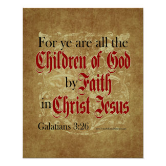 Niños de dios por la fe posters