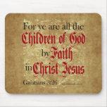 Niños de dios por la fe tapetes de ratones