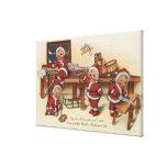 Niños de GreetingLittle del navidad en el banco de Impresion En Lona