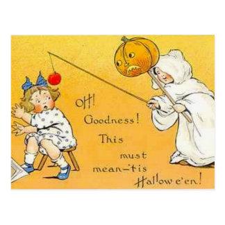 Niños de Halloween del vintage del KRW Postal