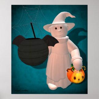 Niños de Halloween Poco fantasma Poster