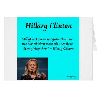 """Niños de Hillary """"para cita de los niños"""" Tarjeta De Felicitación"""