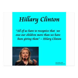 """Niños de Hillary """"para cita de los niños"""" Postal"""