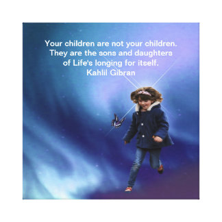 Niños de Kahlil Gibran Lona Envuelta Para Galerías