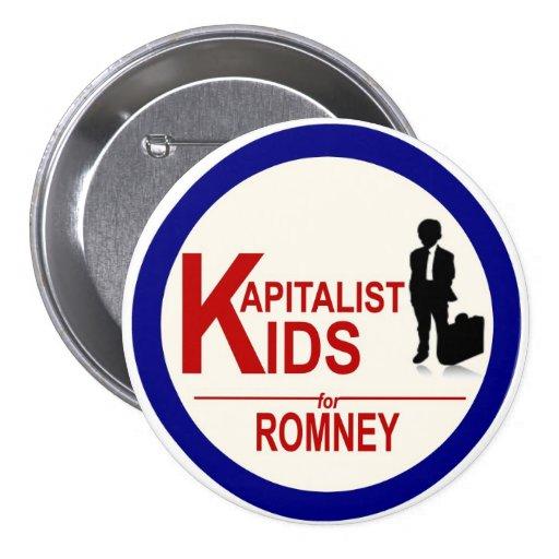 Niños de Kapitalist para Romney Pins