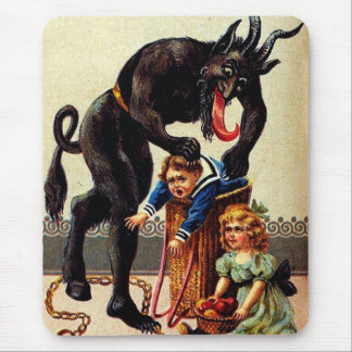 Niños de Krampus en el navidad Mousepad del día de