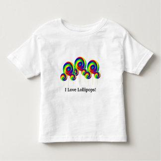 Niños de la camiseta de los Lollipops del amor Playera