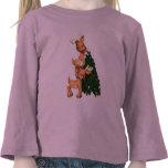Niños de la camiseta del reno del día de fiesta