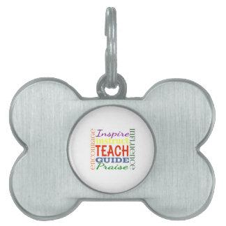 Niños de la escuela de los profesores de la imagen placa mascota
