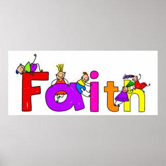 Niños de la fe póster