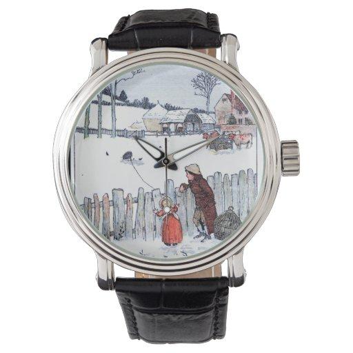 Niños de la granja del vintage reloj de mano
