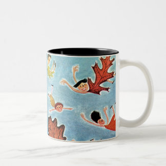 Niños de la hoja taza de café
