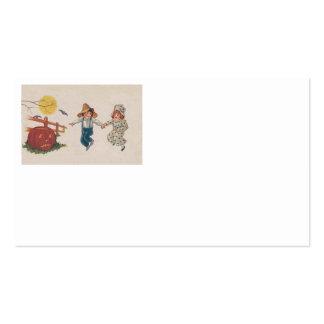Niños de la Luna Llena del palo de la calabaza de  Tarjetas De Visita