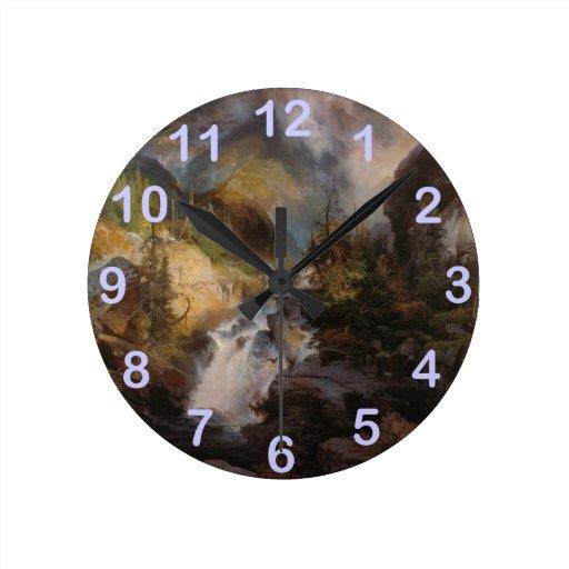 Niños de la montaña - Thomas Moran (1867) Reloj