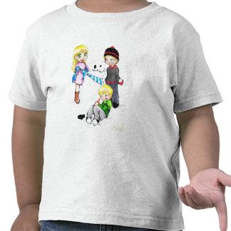 Niños de la nieve - camiseta de Twofer del niño