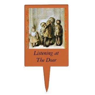 Niños de la Nochebuena en la puerta Palillos De Tarta