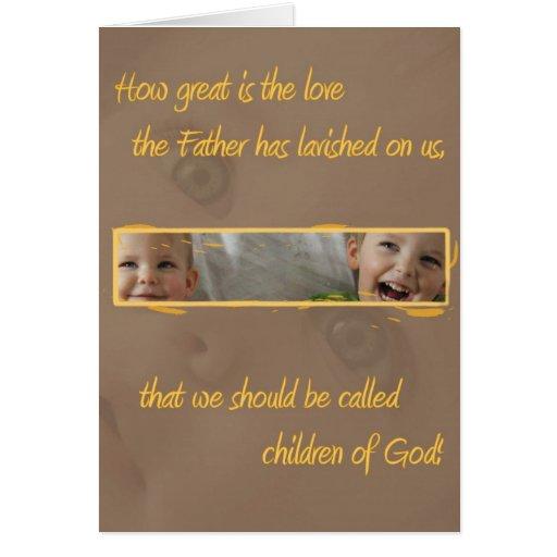 Niños de la tarjeta de regalo cristiana de dios