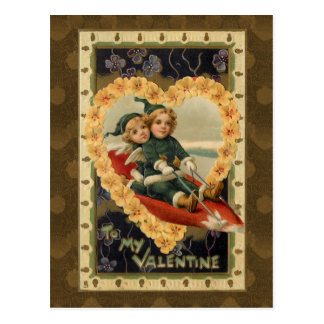 Niños de la tarjeta del día de San Valentín del Postal