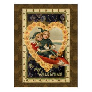Niños de la tarjeta del día de San Valentín del Tarjetas Postales